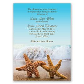 Starfish - Petite Bridal Shower Invitation