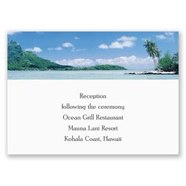 Sea of Love - Reception Card