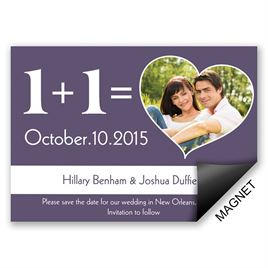 Typography Save the Dates: 