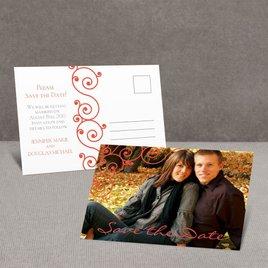 Fashionable Swirls - Save the Date Postcard