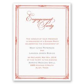 Classic Frame - Petite Engagement Party Invitation