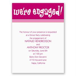 "We""re Engaged - Petite Engagement Party Invitation"