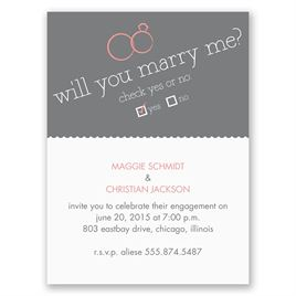Will You - Petite Engagement Party Invitation