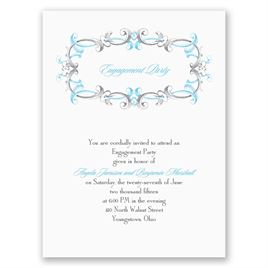 Dainty Swirls - Petite Engagement Party Invitation