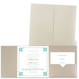 Filigree Edges - Gold Shimmer - Pocket Invitation
