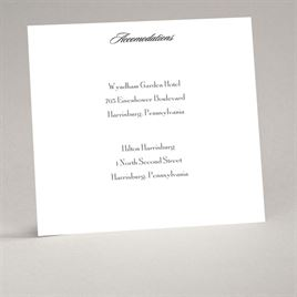 Wedding Accommodation Cards: 