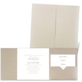 Classic Message - Gold Shimmer - Pocket Invitation