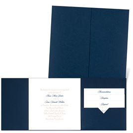 Classic Message - Navy - Pocket Invitation