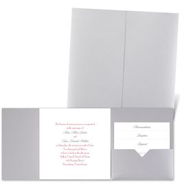 Classic Message - Silver Shimmer - Pocket Invitation