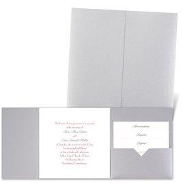 Classic Message - Silver Shimmer - Pocket Invitation