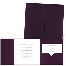 Classic Message - Eggplant - Pocket Invitation