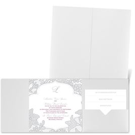 Lavish Lace - White Shimmer - Pocket Invitation