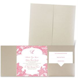 Lavish Lace - Gold Shimmer - Pocket Invitation