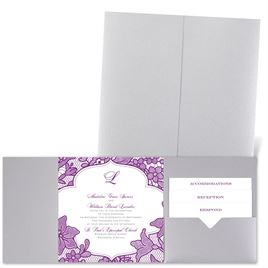 Lavish Lace - Silver Shimmer - Pocket Invitation