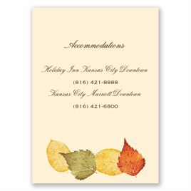 Touch of Autumn - Accommodations Card