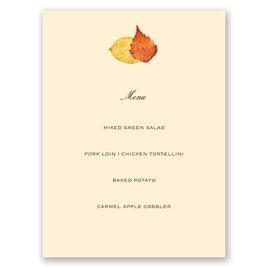 Touch of Autumn - Menu Card