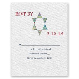 Star of David Devotion - Response Card