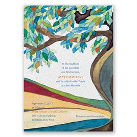 Tree of Life - Bar Mitzvah Invitation