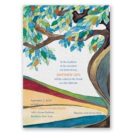 Tree of Life - Bar Mitzvah Invitation