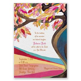 Tree of Life - Bat Mitzvah Invitation