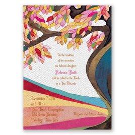 Tree of Life - Bat Mitzvah Invitation
