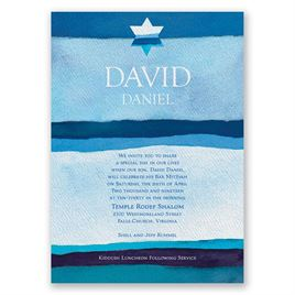 Peace - Bar Mitzvah Invitation
