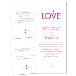 Love So True - 3 for 1 Invitation