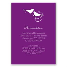 Pretty Birds - Accommodations Card