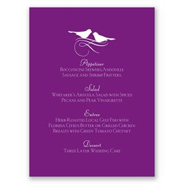 Pretty Birds - Menu Card