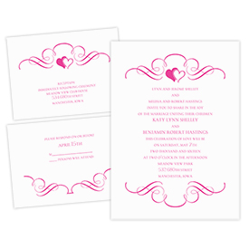 Loving Filigree - 3 for 1 Invitation