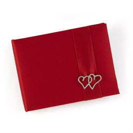 With All My Heart - Claret Guest Book
