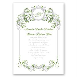 Bon Fairy Tale Wedding Invitations: Disney Fairy Tale Filigree Invitation Tiana