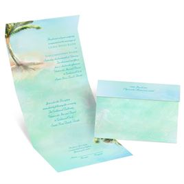 Palm Tree - Seal and Send Invitation