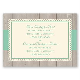 Rustic Fence - Ecru - Accommodations Card