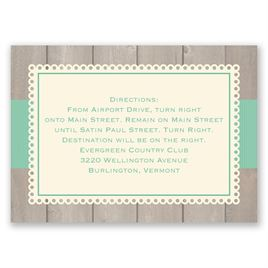 Wedding Map Cards: Rustic Fence - Map Card