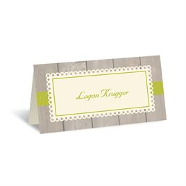 Rustic Fence - Ecru - Place Card