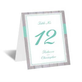 Rustic Fence - Table Card