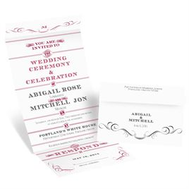 Black and White Wedding Invitations: 