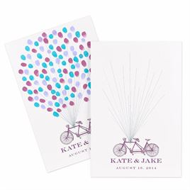 Thumbprint Bicycle - Guest Signature Poster