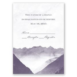 Mountain Mist - Response Card and Envelope