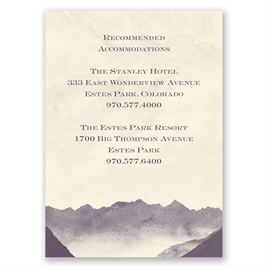 Mountain Mist - Ecru - Accommodation Card