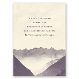 Mountain Mist - Ecru - Reception Card