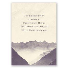 Mountain Mist - Ecru - Reception Card