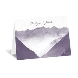 Mountain Mist - Thank You Card and Envelope