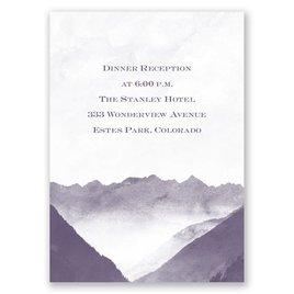 Mountain Mist - Reception Card