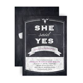Engagement Party Invitations: Old School Petite Engagement Party Invitation