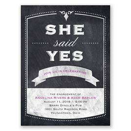 Old School - Petite Engagement Party Invitation