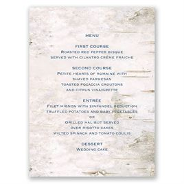 Carved in Love - Menu Card