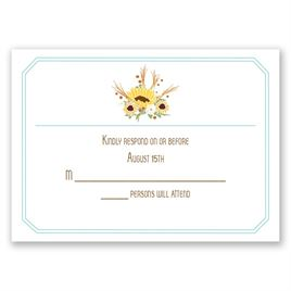 Country Sunflowers - Fountain - Response Card and Envelope