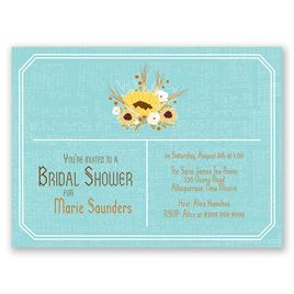 Country Sunflowers - Fountain - Petite Bridal Shower Invitation